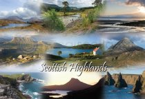 Scottish Highlands Fusion Postcard (HA6)