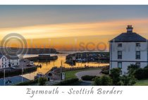 Eyemouth Harbour at Dusk Postcard (H A6 LY)