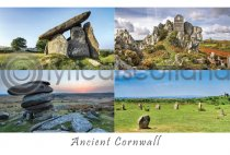 Ancient Cornwall Composite Postcard (H A6 LY)
