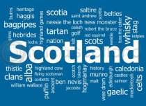 Scotland Word Cloud Magnet (H LY)