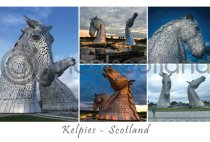 Kelpies Scotland Composite Postcard (H A6 LY)