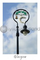 Glasgow Lamppost Postcard (V A6 LY)