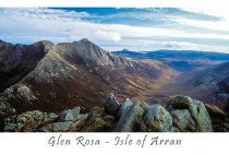 Glen Rosa From Cir Mhor Postcard (H A6 LY)