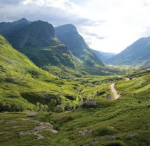 Glencoe Pass Three Sisters Colour Photo Greetings Card