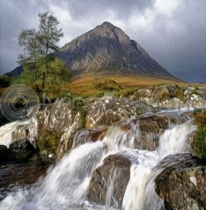 Buachaille Etive Mor Colour Art Greetings Card