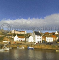 Crail, East Neuk of Fife Colour Art Greetings Card