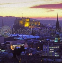 Edinburgh Skyline, Dusk Colour Art Greetings Card