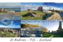 St Andrews, Fife Composite Postcard (HA6)