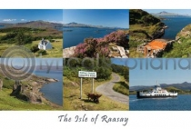 Isle of Raasay Composite Postcard (HA6)