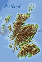 Scotland Map Postcard (VA6)