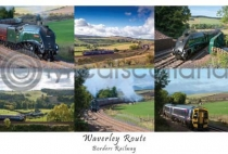 Waverley Route, Borders Railway Composite Postcard (HA6)
