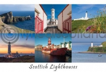Scottish Lighthouses Composite Postcard (HA6)