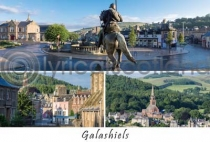 Galashiels Composite Postcard (H A6 LY)