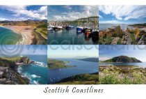 Scottish Coastlines Composite 2 West Postcard (HA6)