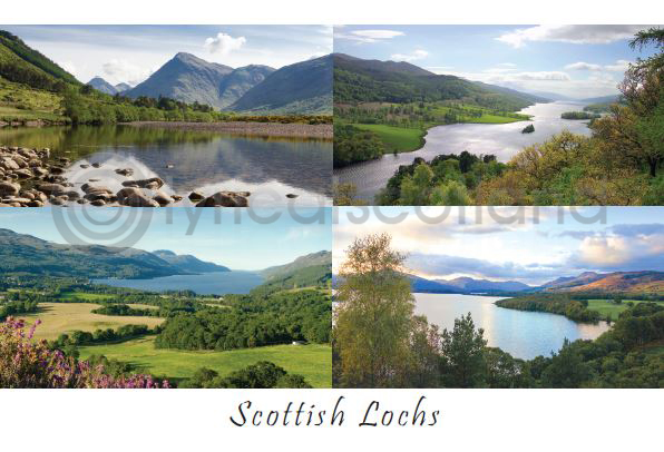 Scottish Lochs Composite Postcard (HA6)