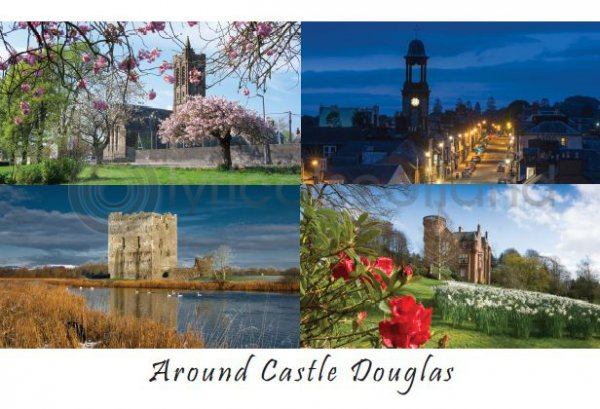 Around Castle Douglas Composite Postcard (HA6)