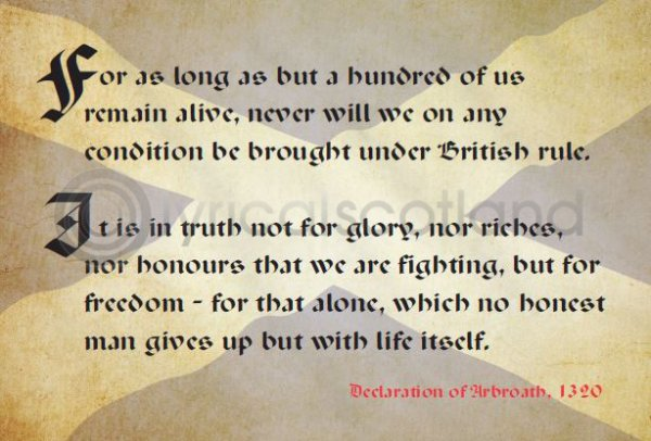 Declaration of Arbroath Saltire Postcard (HA6)