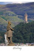 Stirling - Bruce & Wallace Monuments Postcard (V A6 LY)