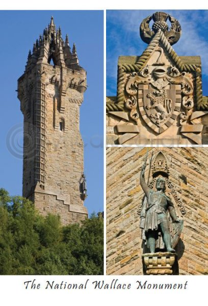 National Wallace Monument Composite 1 Postcard (VA6)
