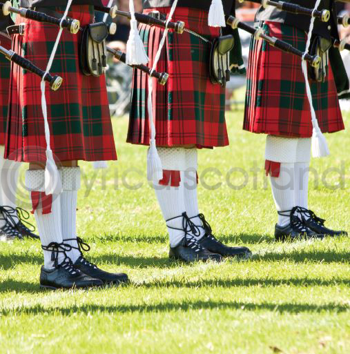 Kilts & Sporrans Colour Photo Greetings Card