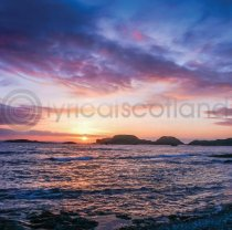 Iona Sunset Colour Photo Greetings Card