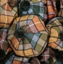 Tartan & Tweed Hats Colour Photo Greetings Card