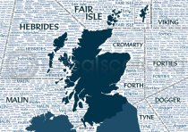Scotland Shipping Forecast Magnet (H LY)