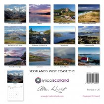 2019 Calendar Scotland's West Coast (Mar)