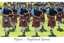 Highland Games Postcard (HA6)