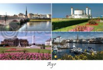 Ayr Composite Postcard (H A6 LY)