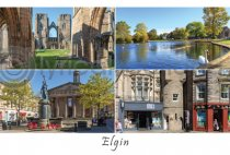 Elgin - Moray Postcard (H A6 LY)