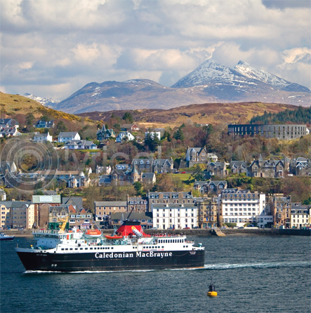 Oban & Ben Cruachan Colour Photo Greetings Card