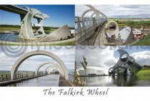 Falkirk Wheel Composite Postcard (HA6)
