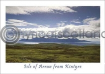 Arran From Kintyre Postcard (HA6)