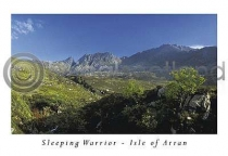 The Sleeping Warrior - Isle of Arran Postcard (HA6)