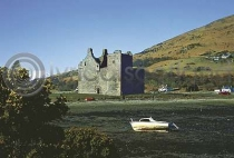 Lochranza Castle With Boat Postcard (HA6)