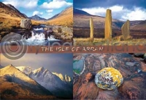 Isle Of Arran Composite (4) Postcard (HA6)