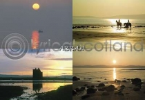 Arran Sunsets Composite Postcard (HA6)