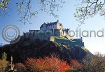 Edinburgh Castle from Princes Street Gardens Postcard (HA6)