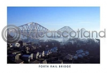 Forth Bridge From North Queensferry Postcard (H A6 LY)