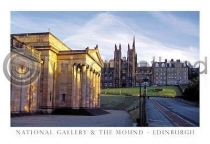National Gallery & the Mound Postcard (H A6 LY)