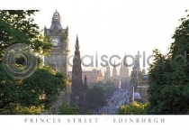 Princes Street From Calton Hill Postcard (H A6 LY)