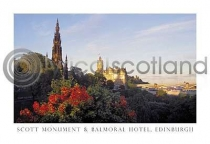 Scott Monument & Balmoral Hotel Postcard (HA6)