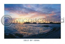 Iona, Sunset At Camus Postcard (H A6 LY)