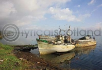 Fishing Boat Graveyard Postcard (HA6)