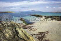 Beach At North End, Iona Postcard (H A6 LY)