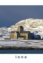 Iona Abbey In Snow Postcard (V A6 LY)