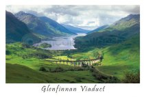 Glenfinnan & the Viaduct Postcard (H A6 LY)