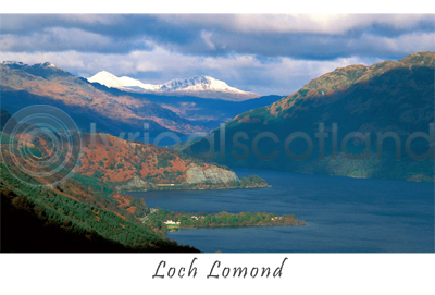Loch Lomond, Looking North Postcard (HA6)