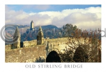 Old Strling Bridge & Wallace Monument Postcard (HA6)